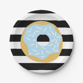 Blue Donut Party Plates