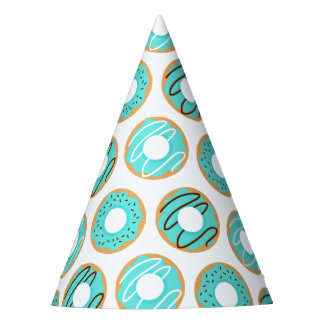 Blue Donuts Pattern Party Hat