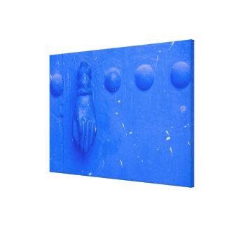 Blue Door Knocker Canvas Print