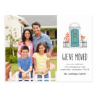 Blue Door Moving Announcement Postcard