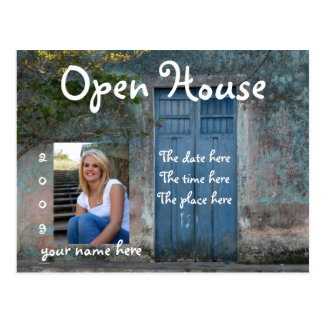 Blue Doors Open House Postcard