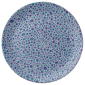 Blue Dot Polka Dot Decorative Porcelain Plate