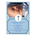 Blue Dots Baptism Baby Dedication 5x7 photo