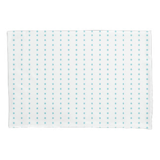 Blue Dots Dash Morse Code Motif Pillowcase