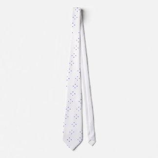 Blue dots diamond pattern necktie