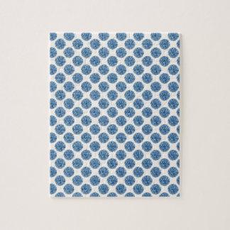 Blue dots jigsaw puzzle