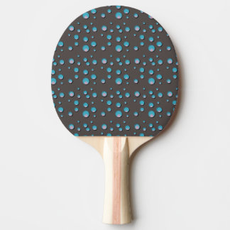 Blue Dots on Gray Ping Pong Paddle