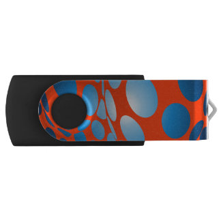 Blue Dots on Orange USB Flash Drive