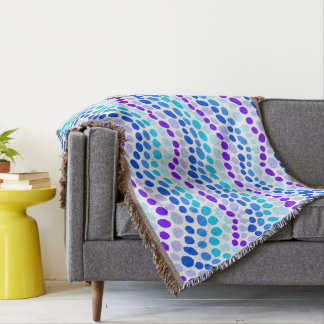 Blue Dots Throw Blanket