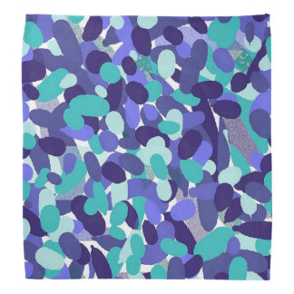 Blue Dotted Spotty Abstract Bandanna