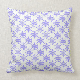 Blue dotted stamped star design throw cushions
