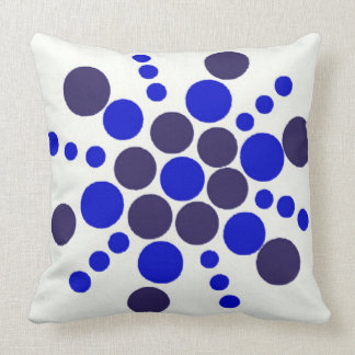Blue dotted stamped star throw pillow