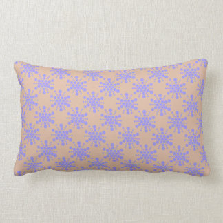 Blue dotted stars on taupe lumbar cushion