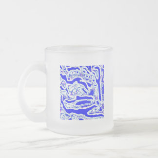 Blue Dover Doodle Abstract Mug