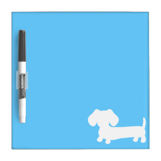 Blue doxie silhouette dry erase board
