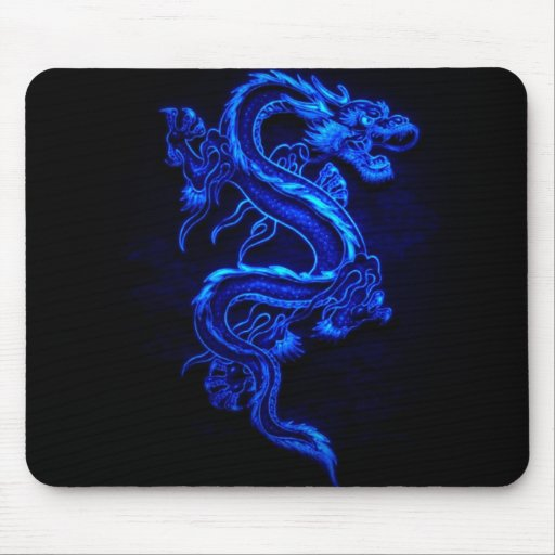 blue-dragon-black-fire mousepads