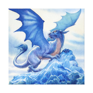 Blue Dragon Canvas Canvas Print