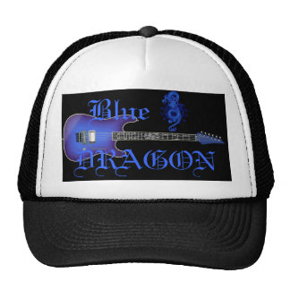 Blue Dragon Guitar Chinese Dragon Baseball Hat