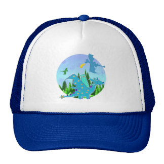 Blue Dragon Trucker Hat