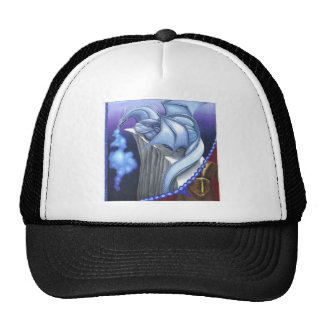 blue dragon mesh hat