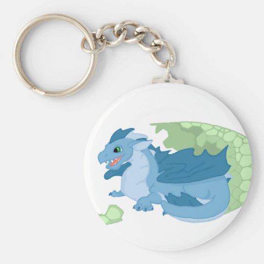 Blue Dragon Hatchling Keychain