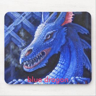 Blue dragon mouse pad