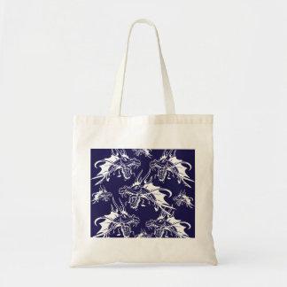 Blue Dragon Mythical Creature Fantasy Design Tote Bag