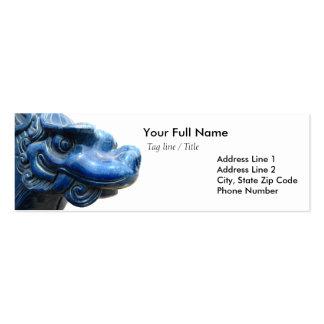 Blue dragon - Nietzsche quote Business Card Template