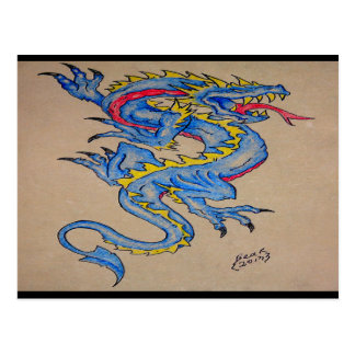 blue dragon parchment card (horz)