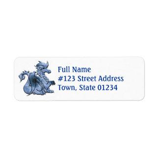 Blue Dragon Return Address Label