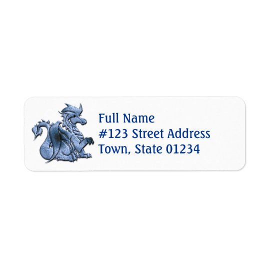 Blue Dragon Return Address Label