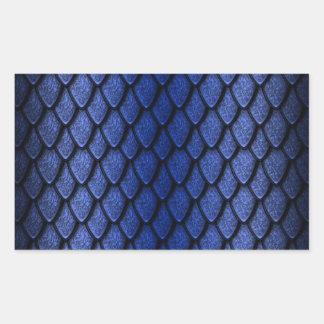 Blue Dragon Scales Rectangular Sticker
