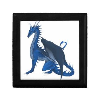 Blue Dragon Small Square Gift Box