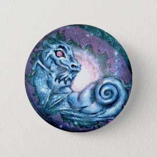 Blue Dragon Star 6 Cm Round Badge