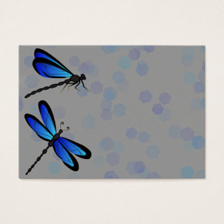 blue dragonflies business card
