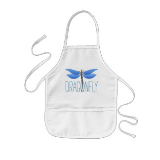 blue dragonfly girly personalised kids apron