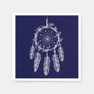 Blue Dream Catcher Native American Wedding Party Disposable Serviette