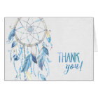 Blue Dreamcatcher Folded Thank You Card
