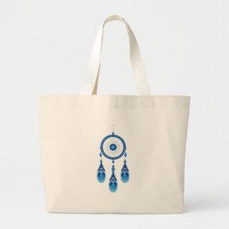 Blue Dreamcatcher Large Tote Bag