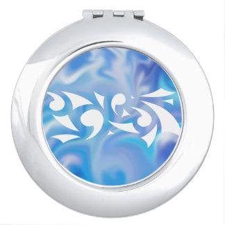 Blue Dreams (Circle Compact) Vanity Mirrors