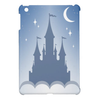 Blue Dreamy Castle In The Clouds Starry Moon Sky Cover For The iPad Mini