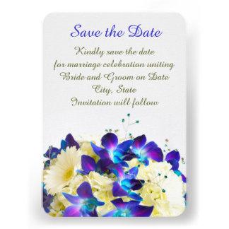 Blue Dreamy Romantic Bouquet Save the date Custom Announcements
