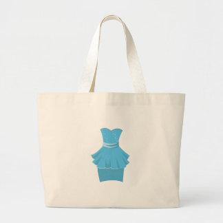 Blue Dress Jumbo Tote Bag