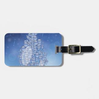 blue drop luggage tag