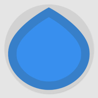 Blue drop sticker