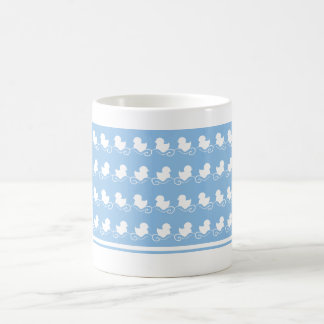 blue ducks in row tea mug