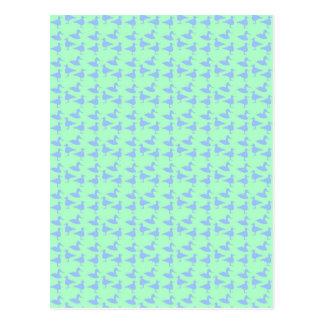 Blue ducks postcard