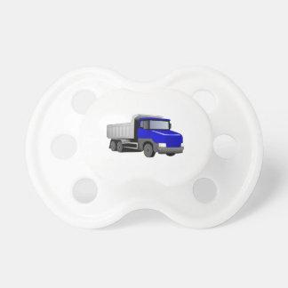 Blue Dump Truck Baby Pacifier