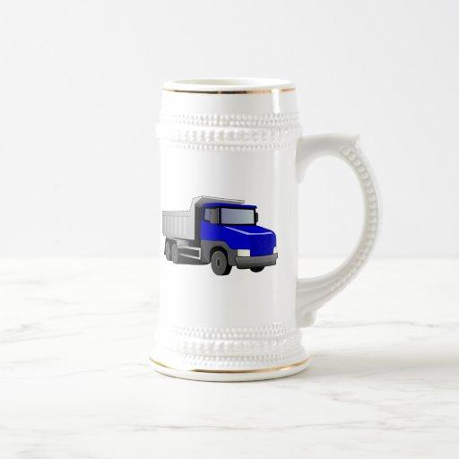 Blue Dump Truck Coffee Mugs