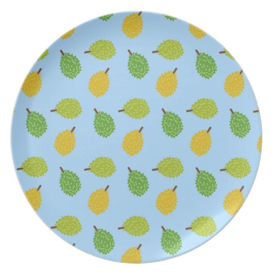 blue durians party plate